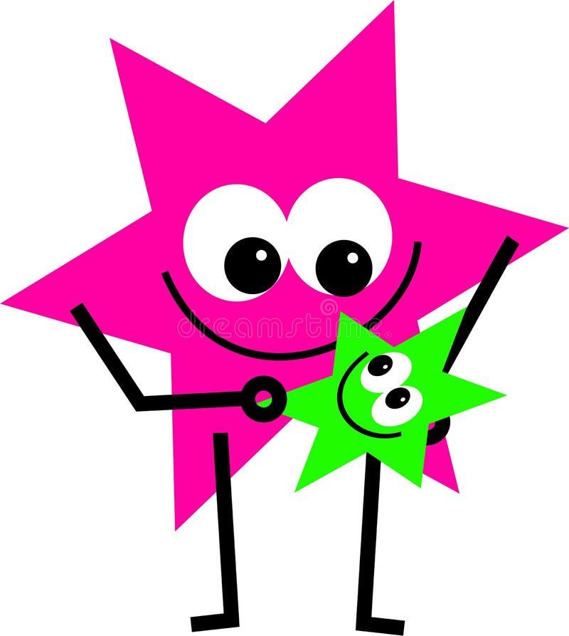 Bebê da estrela ilustração stock
