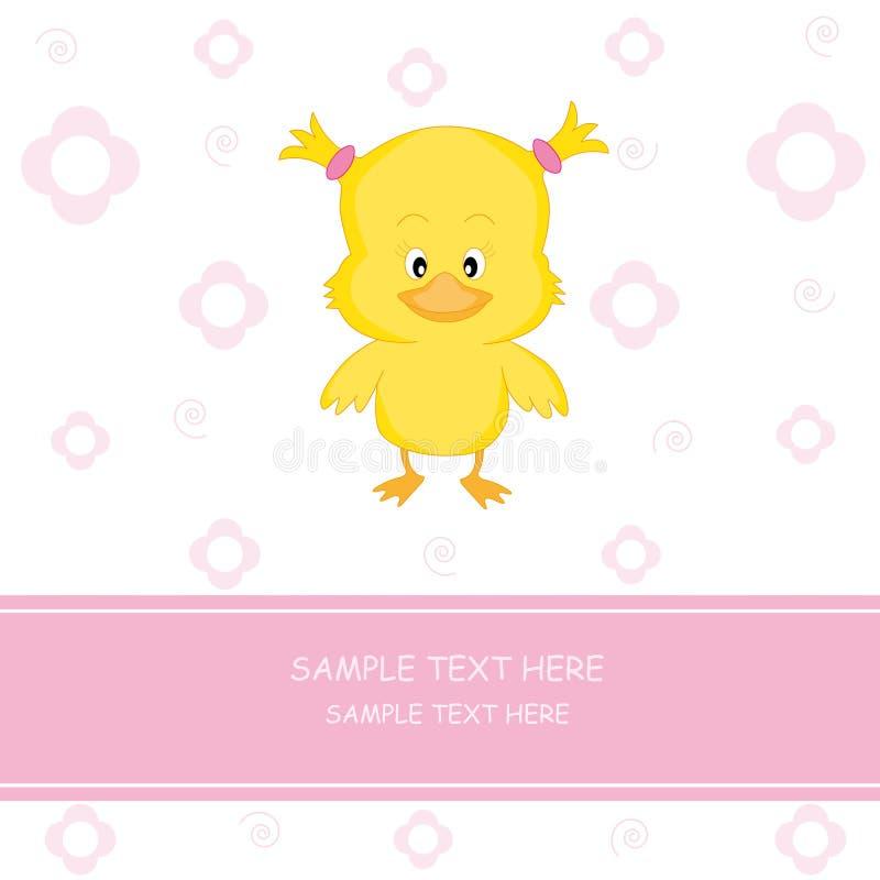 Bebê da galinha ilustração royalty free