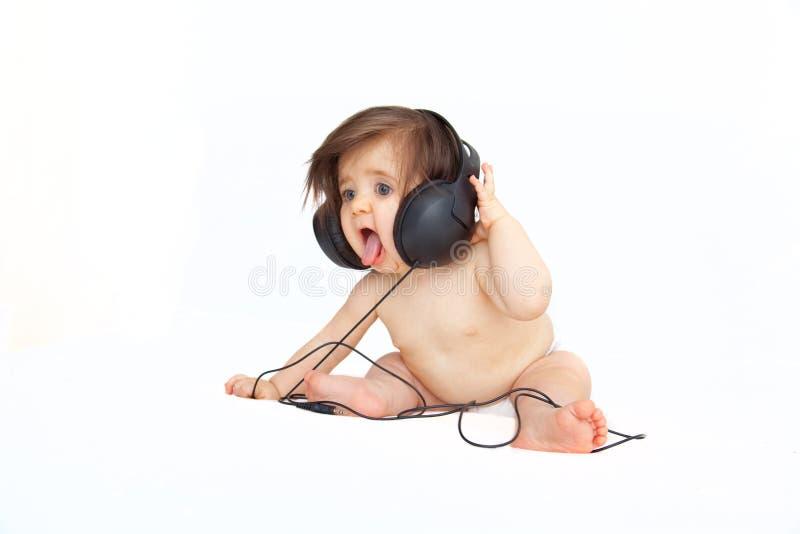Bebê da música fotografia de stock royalty free