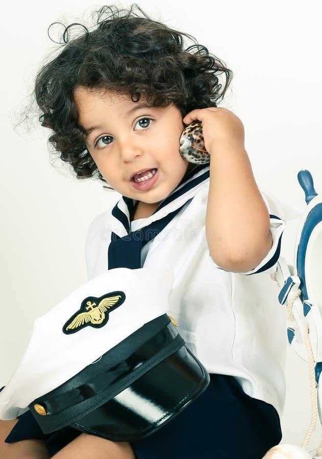 Bebê da marinha fotografia de stock royalty free