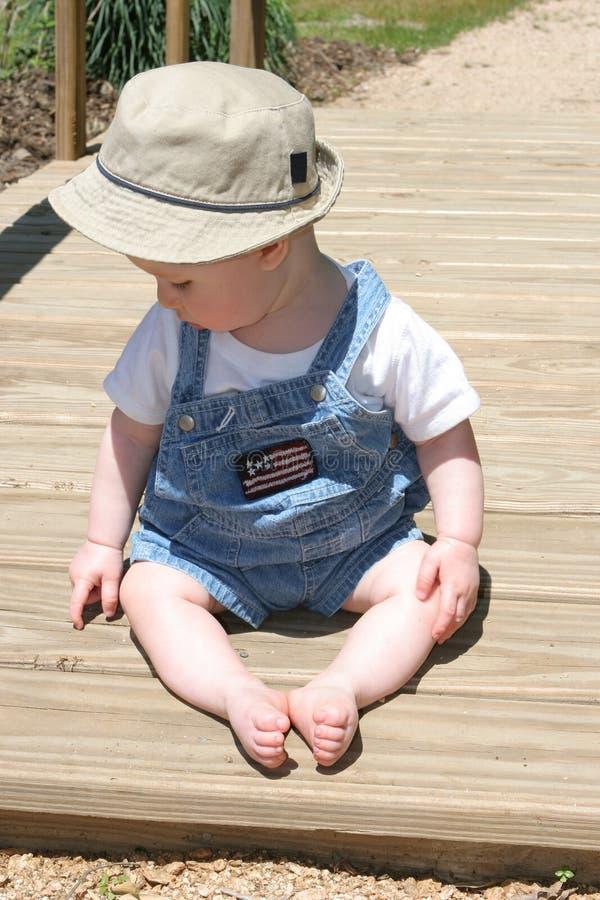 Bebê da ponte fotos de stock