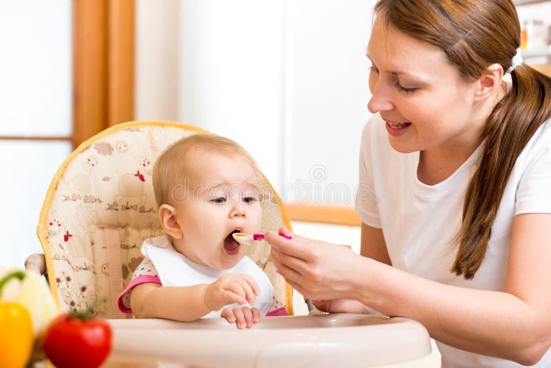 Bebê de alimentação da mãe imagem de stock