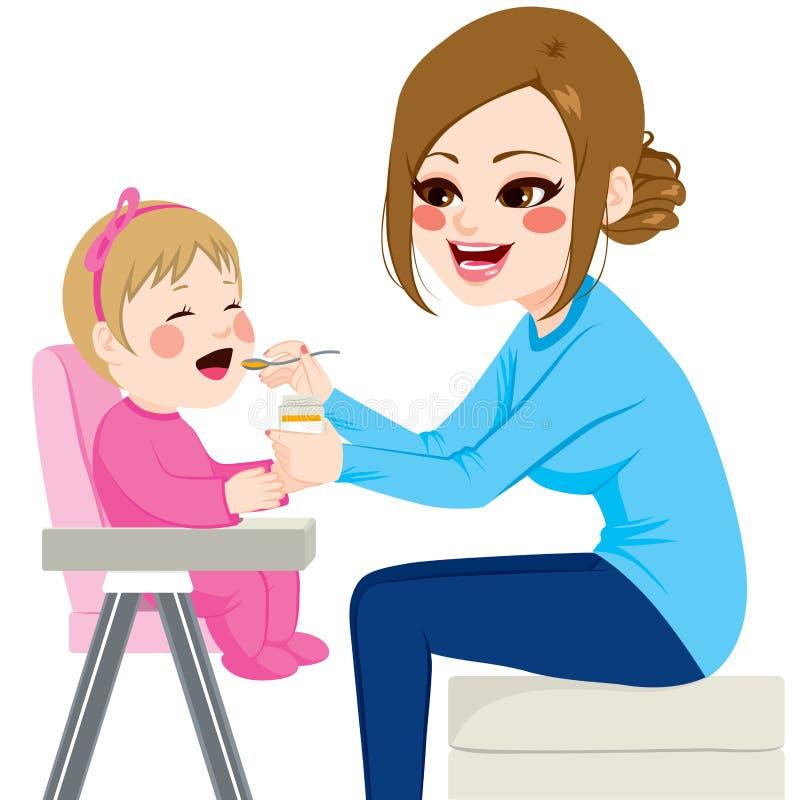 Bebê de alimentação da mãe ilustração royalty free