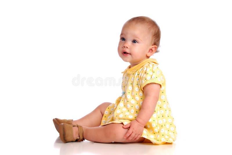 Bebê de assento imagens de stock royalty free