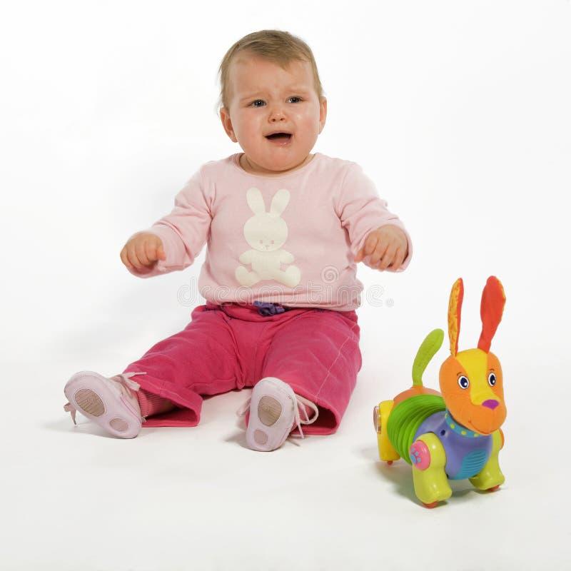 Bebê de Craying foto de stock