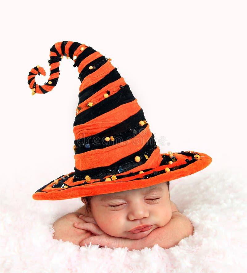Bebê de Dia das Bruxas fotografia de stock