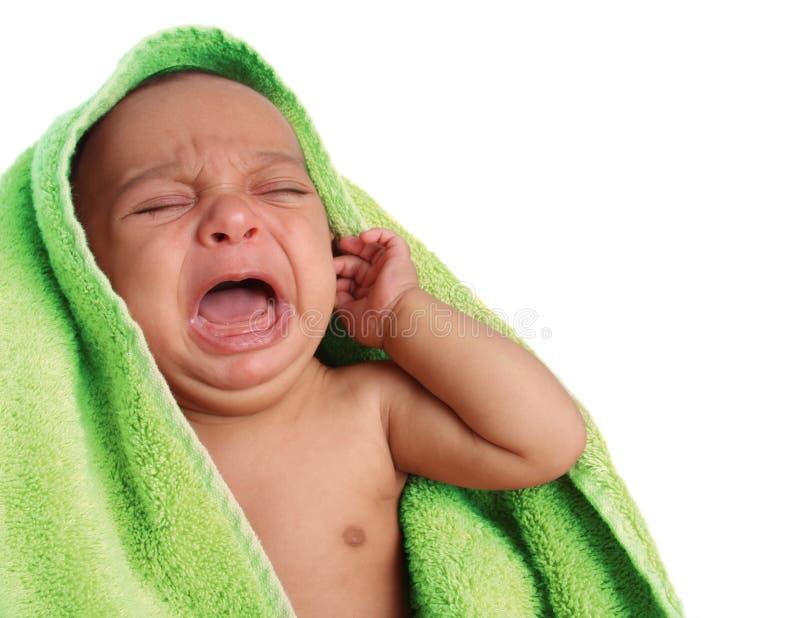 Bebê de grito fotos de stock