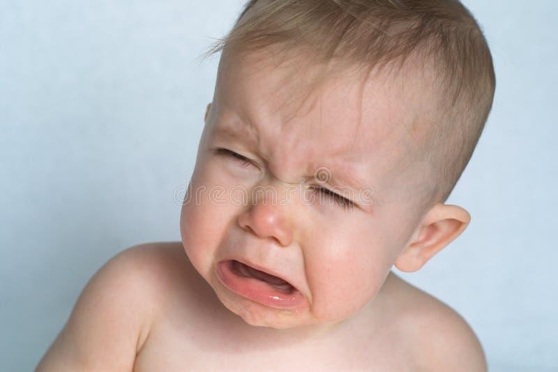 Bebê de grito imagens de stock