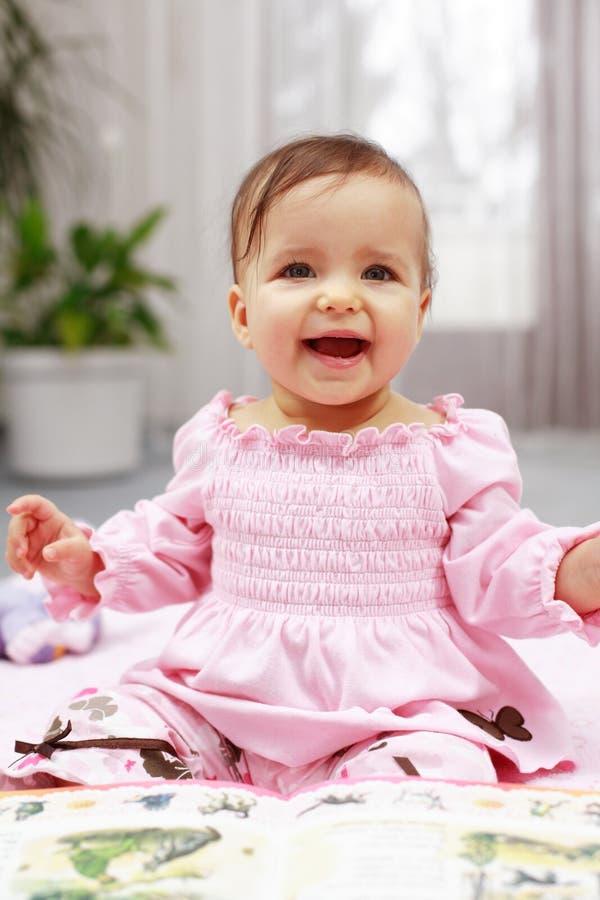 Bebê de riso imagem de stock