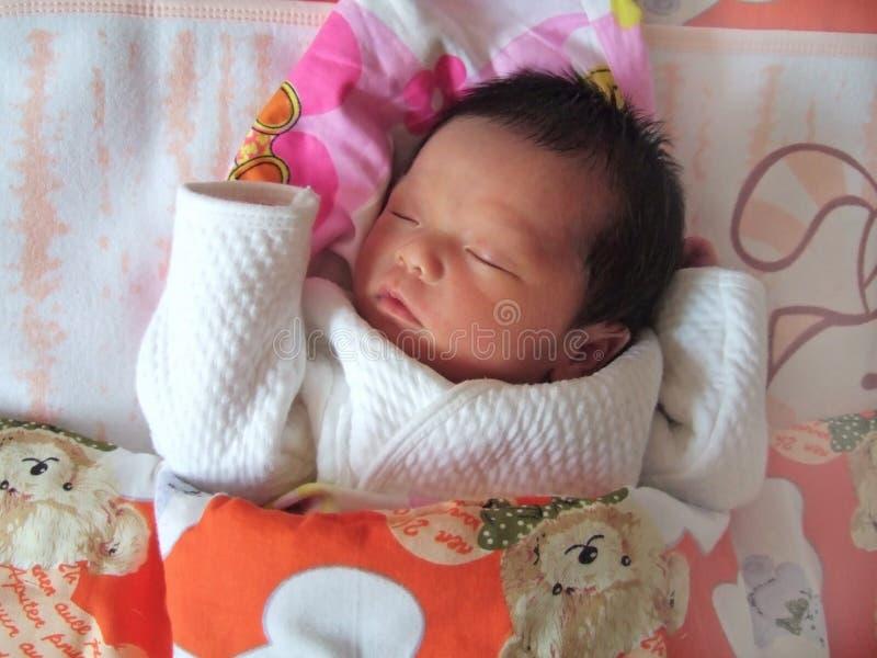 Bebê de sono imagens de stock
