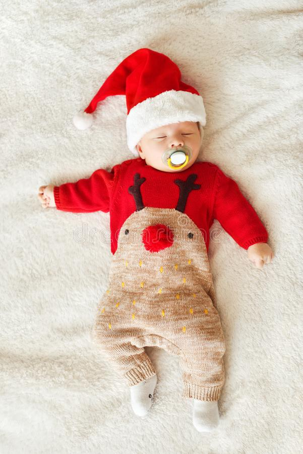 Bebê de sono do Natal imagens de stock royalty free