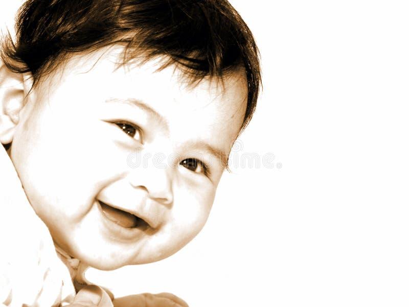 Bebê de sorriso bonito imagens de stock royalty free