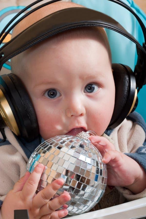 Bebê DJ fotografia de stock royalty free