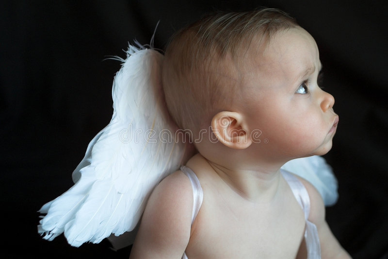 Bebê do anjo foto de stock royalty free