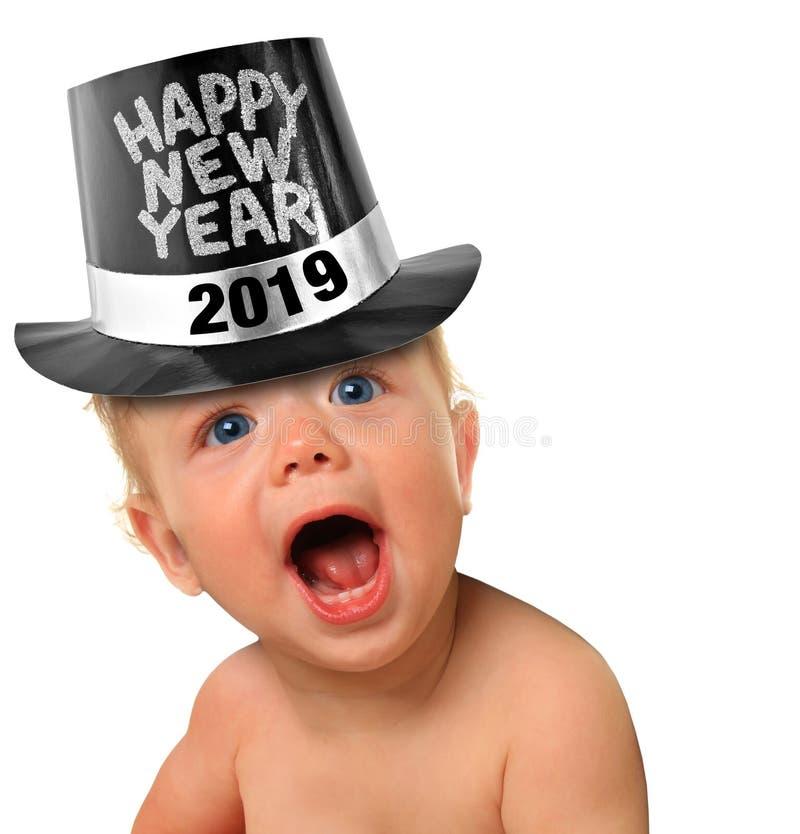 Bebê 2019 do ano novo feliz imagens de stock