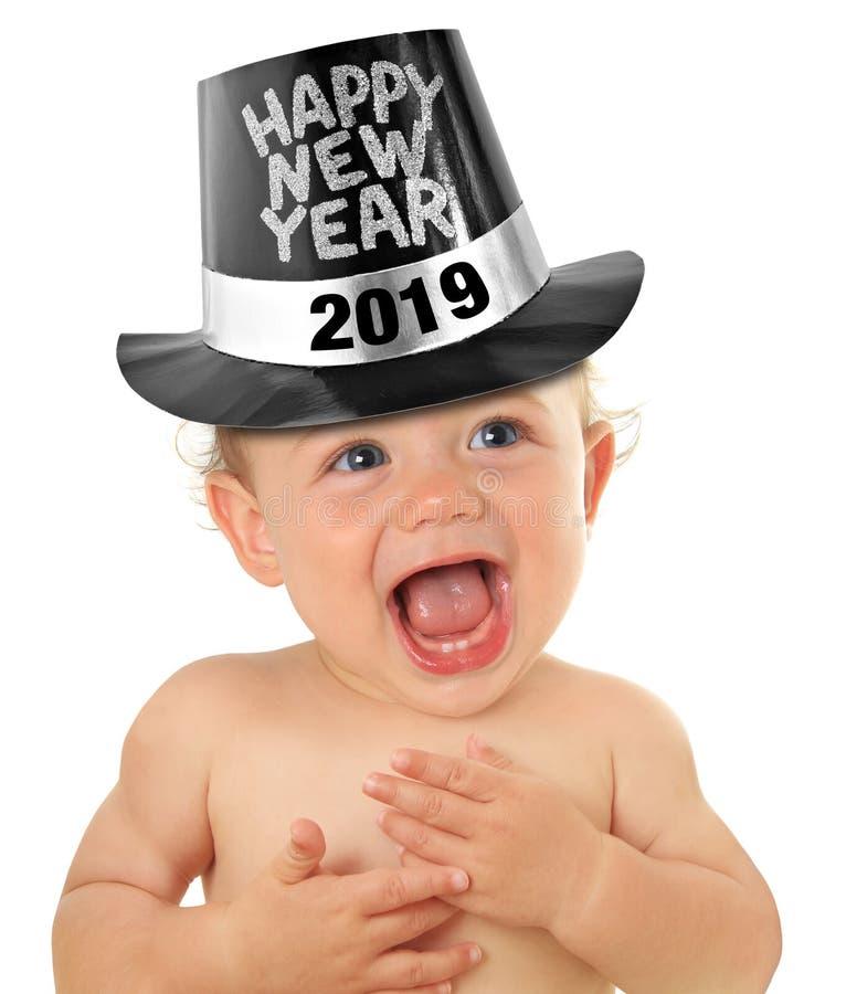Bebê 2019 do ano novo feliz fotos de stock