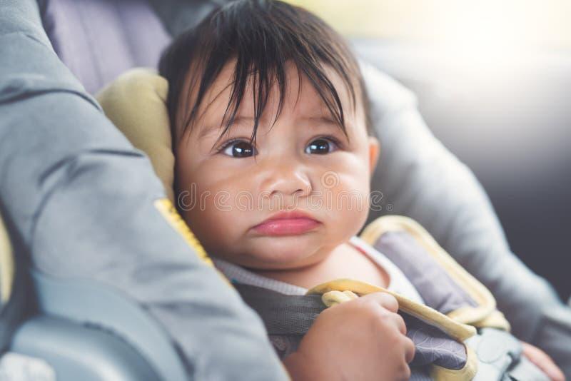 Bebê do banco de carro imagem de stock royalty free