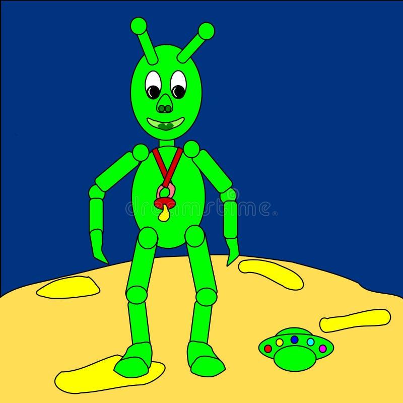 Bebê do Extraterrestrial ilustração royalty free