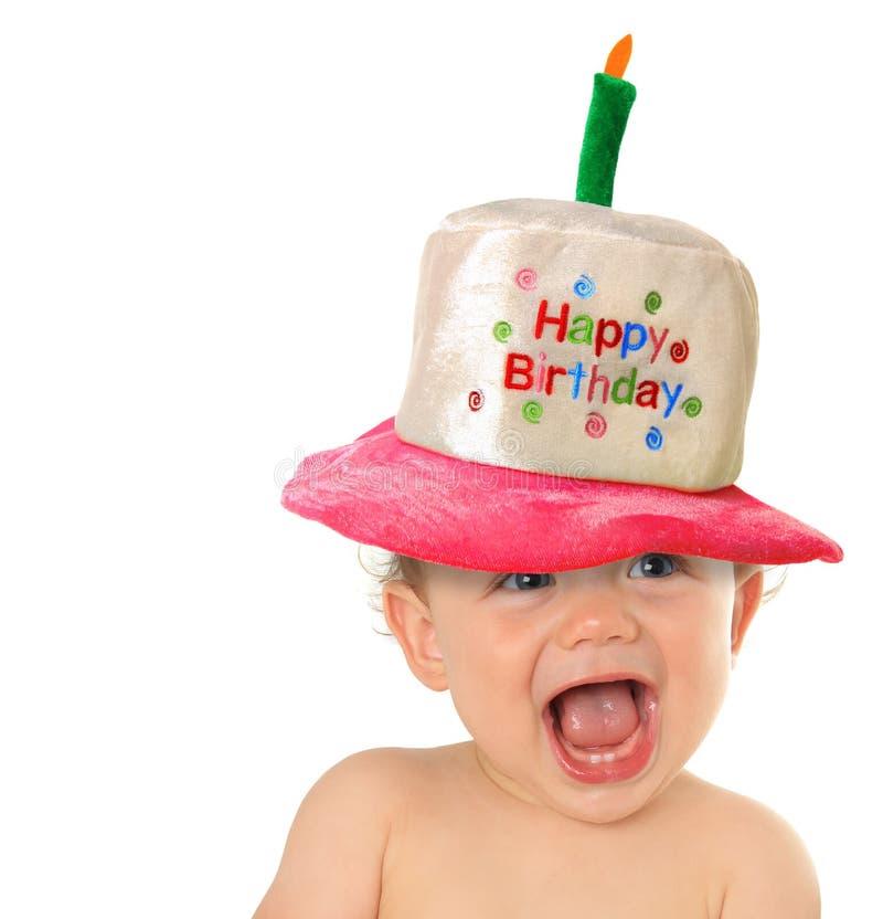 Bebê do feliz aniversario imagens de stock royalty free