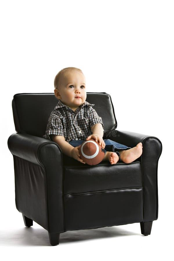 Bebê do futebol imagem de stock royalty free