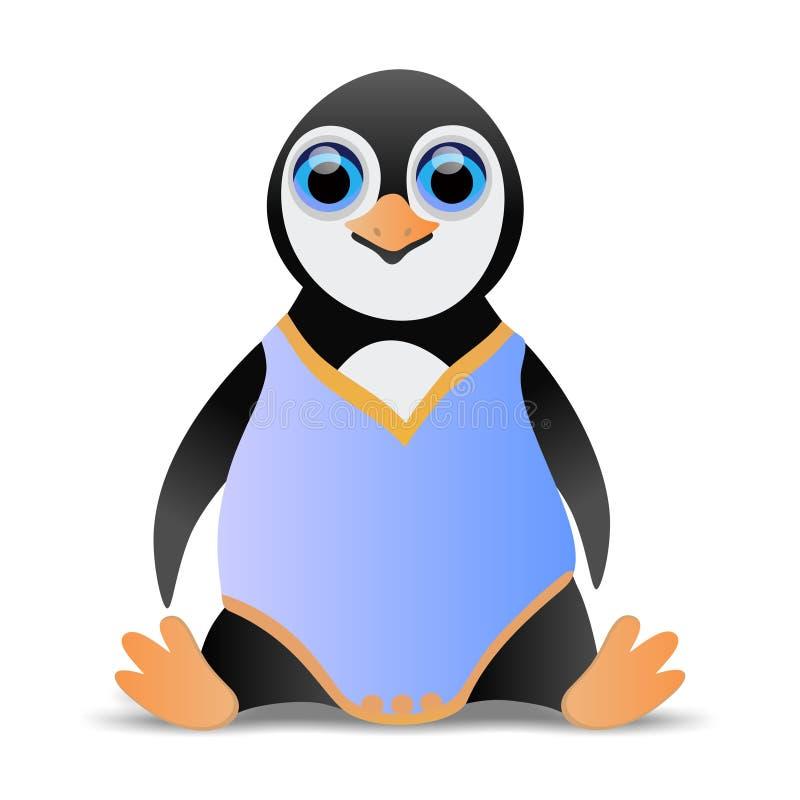 Bebê do pinguim ilustração royalty free