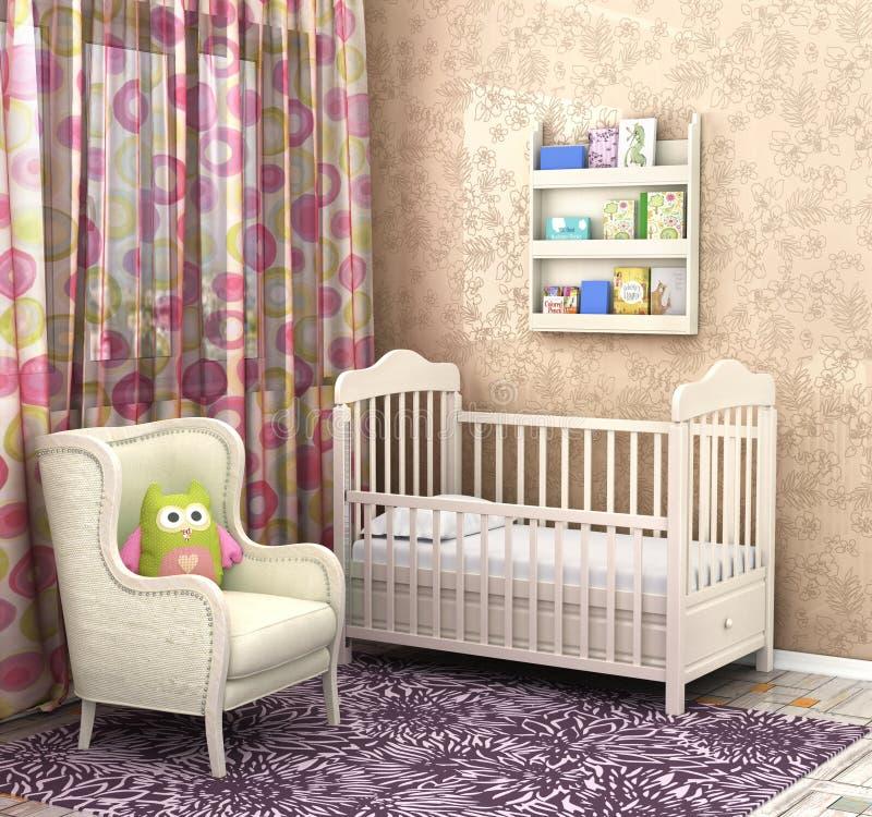 Bebê do quarto ilustração royalty free