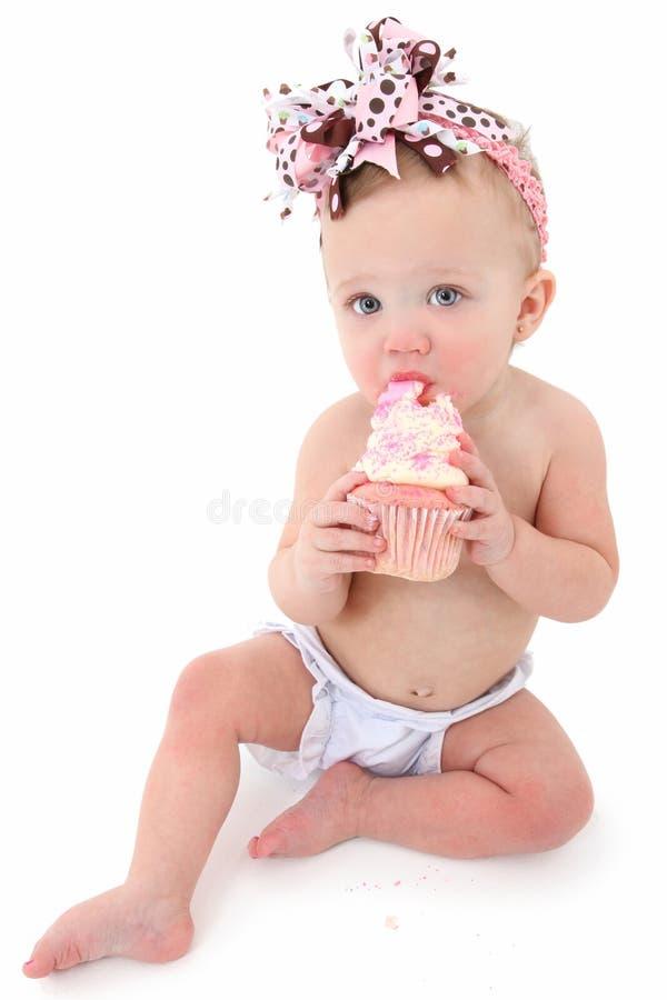 Bebê do queque imagem de stock