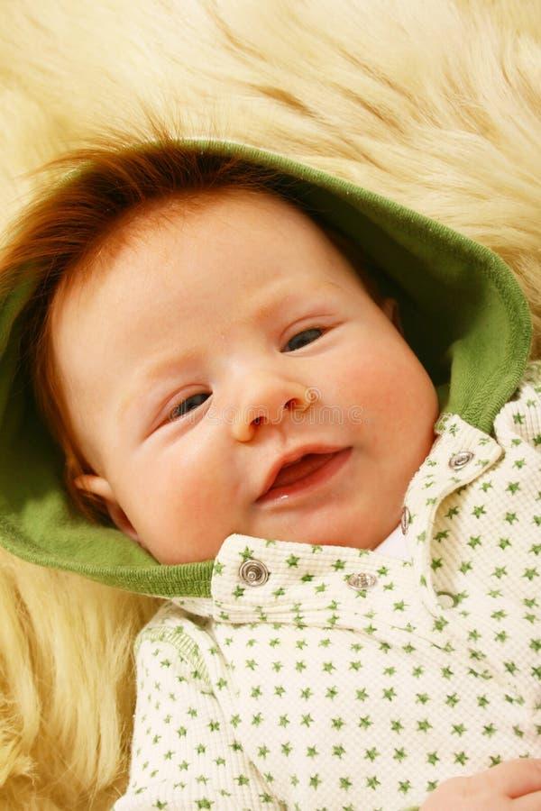 Bebê do Redhead imagens de stock royalty free