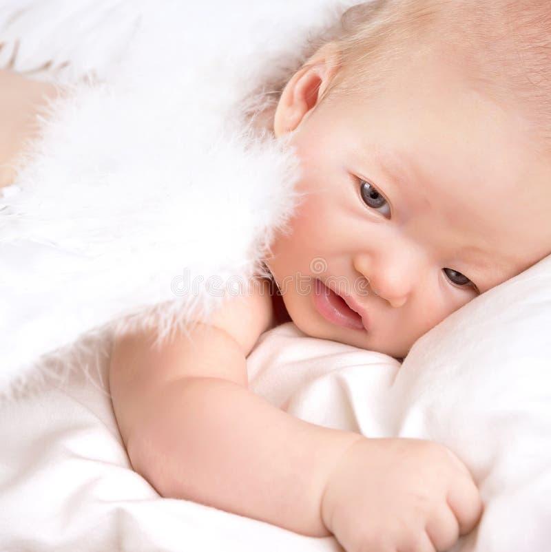 Bebê doce do anjo fotografia de stock