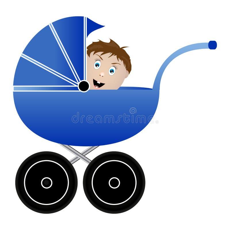 Bebê em um pram ilustração royalty free