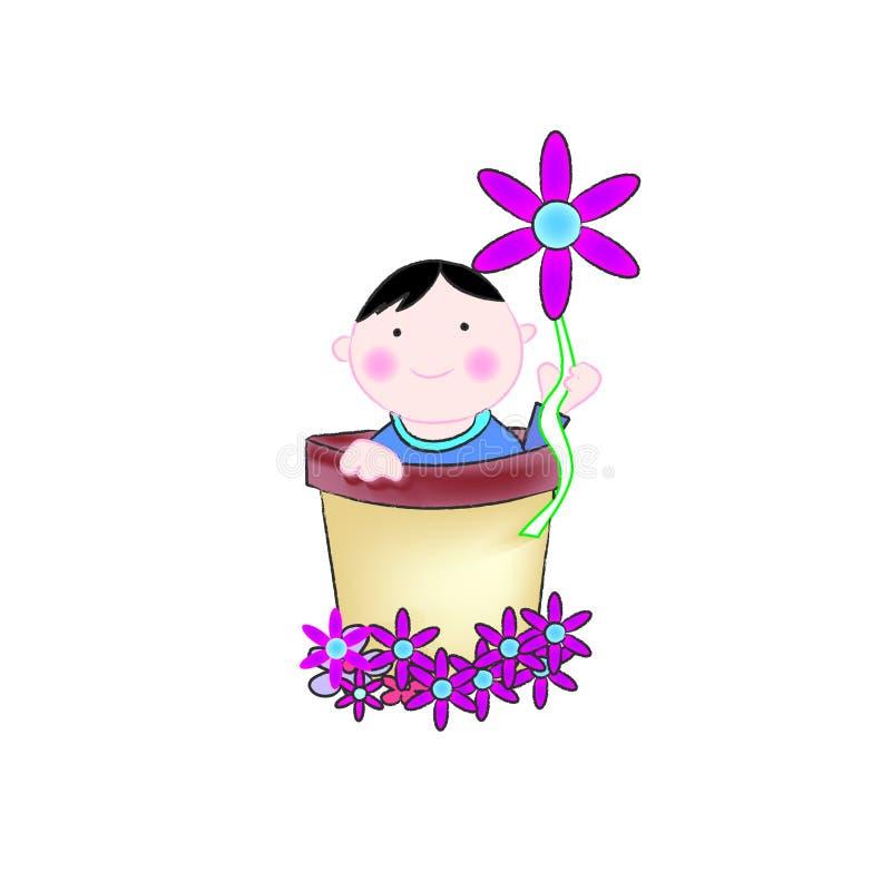 Download Bebê em uma cubeta ilustração do vetor. Ilustração de infância - 16867951