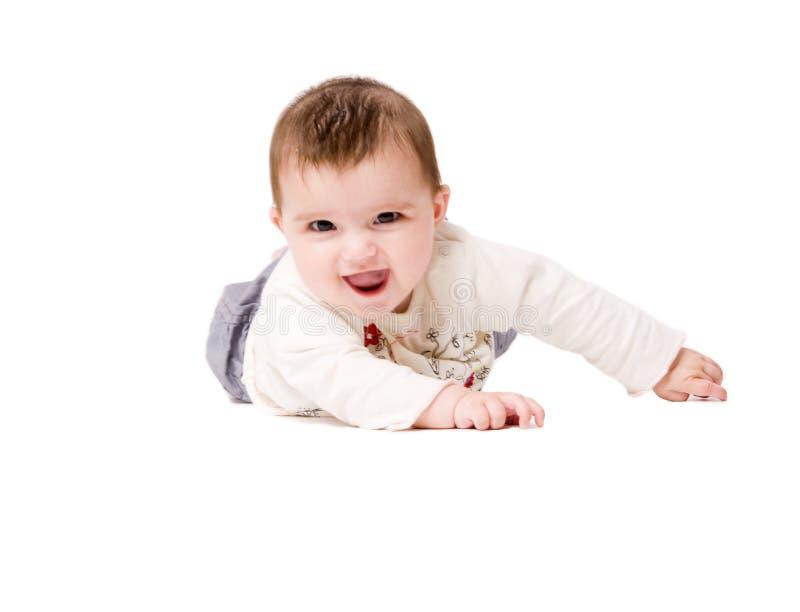 Bebê entusiástico fotos de stock royalty free