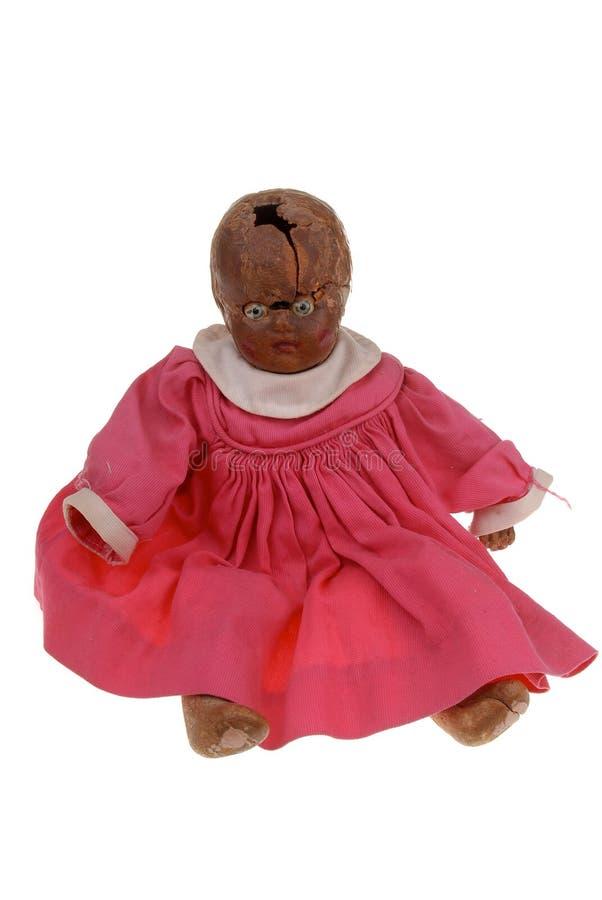 Bebê estranho do vintage - boneca imagem de stock