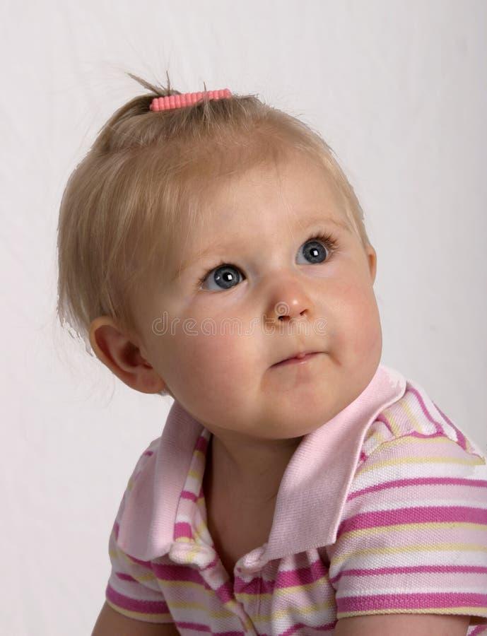 Bebê eyed azul imagem de stock royalty free