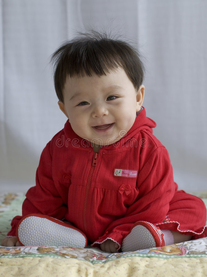 Bebê feliz fotografia de stock royalty free