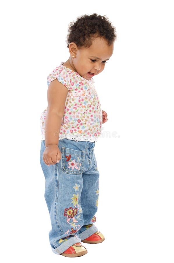 Bebê feliz adorável fotografia de stock