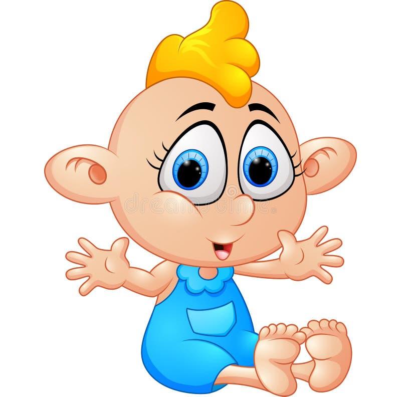 Bebê feliz dos desenhos animados ilustração do vetor