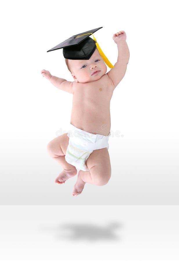Bebê Feliz Jumpign Para A Alegria Imagens de Stock Royalty Free