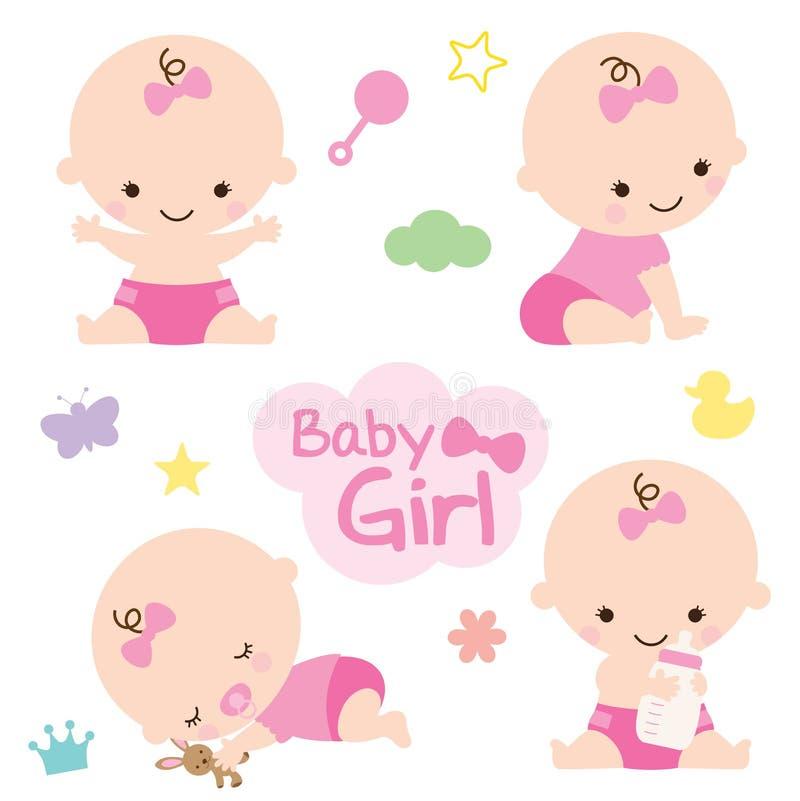 Bebê girl ilustração royalty free