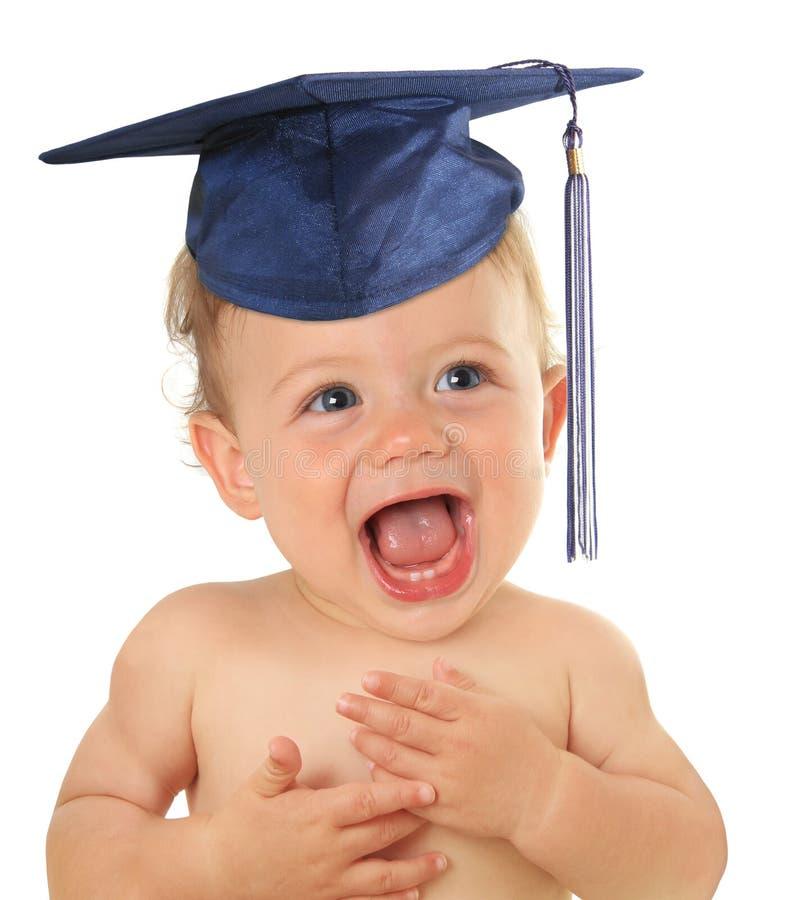 Bebê graduado imagem de stock
