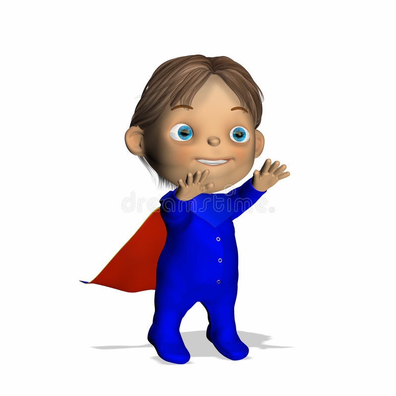 Bebê - herói super 1 ilustração do vetor
