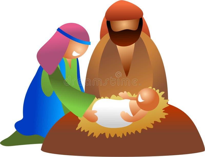 Bebê Jesus ilustração royalty free