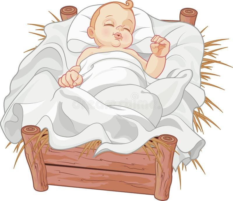 Bebê Jesus Asleep ilustração stock