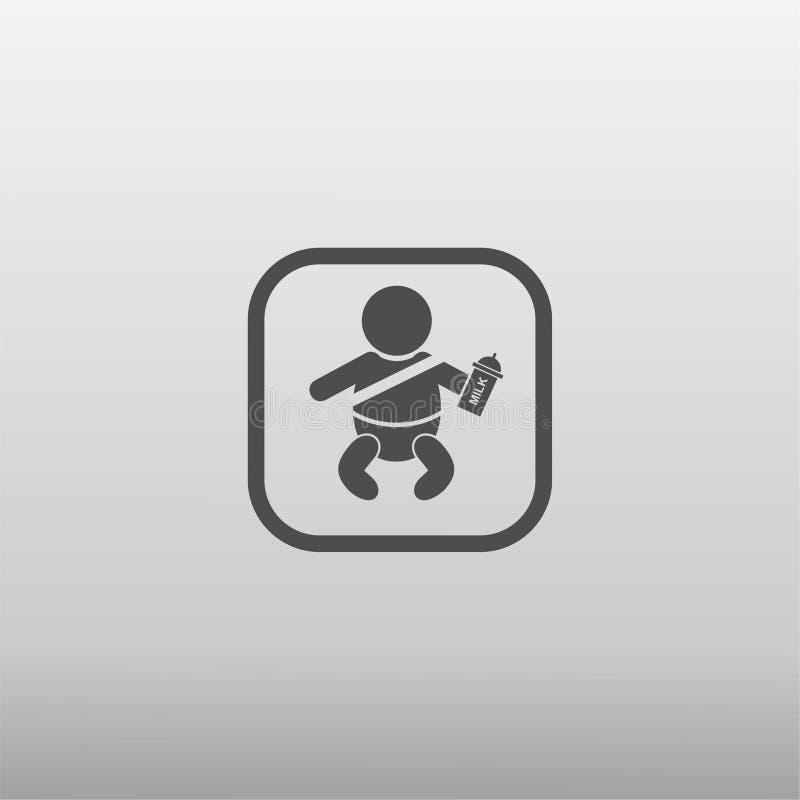 Bebê no ícone do carro ilustração stock