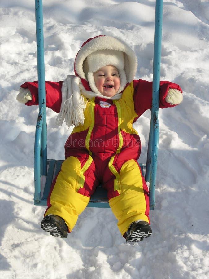 Download Bebê no balanço imagem de stock. Imagem de joyous, criança - 526401