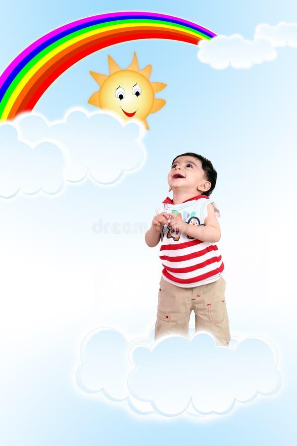 Bebê no céu fotos de stock