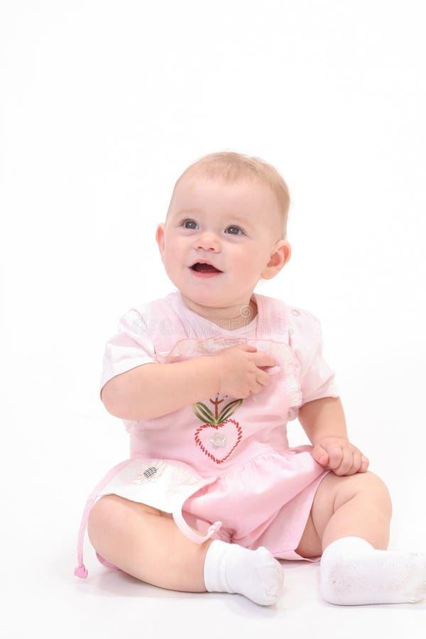 Bebê no fundo branco foto de stock royalty free