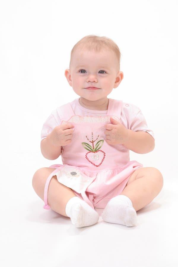 Bebê no fundo branco imagem de stock royalty free