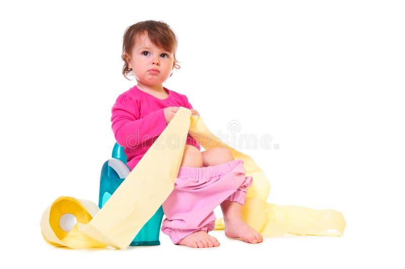 Bebê no potenciômetro imagens de stock