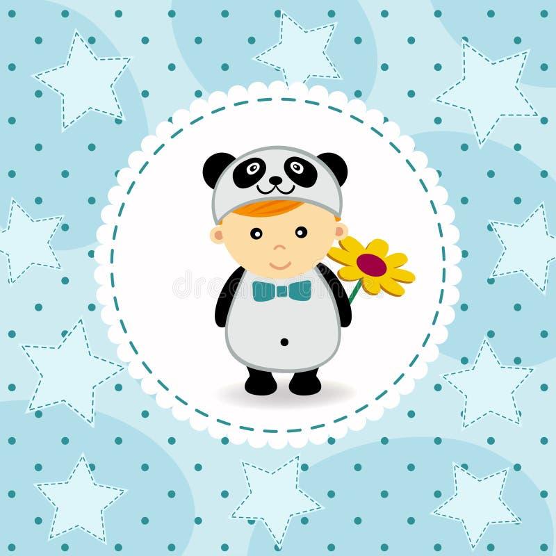 Bebê no terno da panda ilustração royalty free